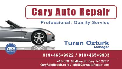 Professional custom business card design services professional cary auto repair logo business card design colourmoves